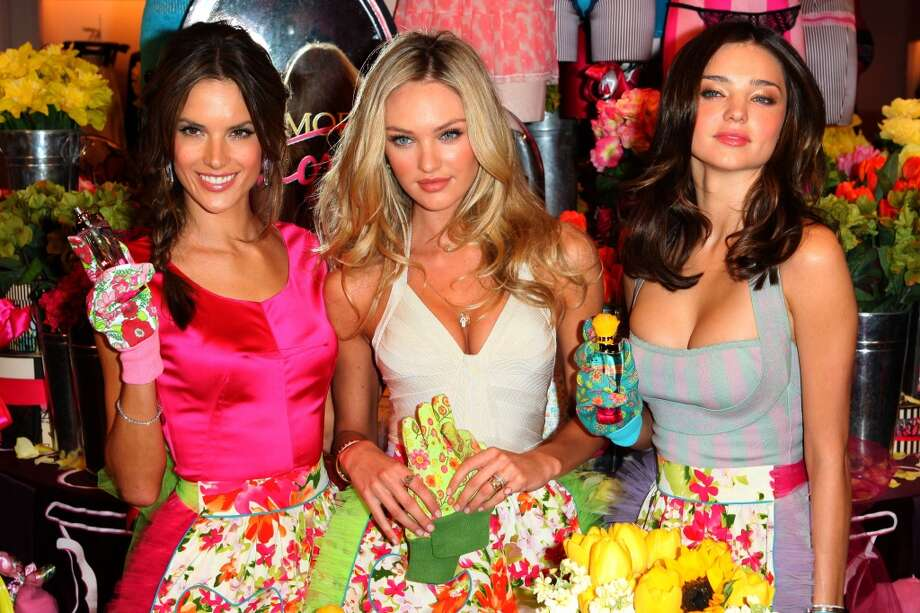 Alessandra Ambrosio, Candice Swanepoel and Miranda Kerr sighting at Victoria's Secret store in Soho in 2010. Photo: Christopher Peterson, BuzzFoto/FilmMagic