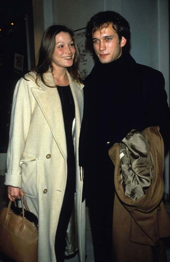 Model Carla Bruni poses with Vincent Perez in 1993. Photo: Michel Dufour, WireImage