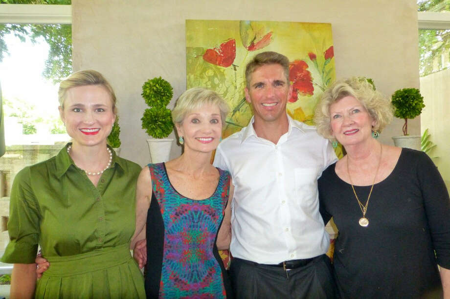 At a reception at the Children's Bereavement Center of South Texas, Laura Nell Burton (from left), Marian Sokol, Chris Rulon and Linda Fugit celebrate Sokol's appointment as executive director. Photo: Nancy Cook-Monroe