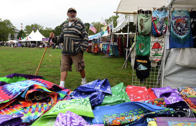 Donald Pearson, of Storrs, CT, walks around checking out vedors, during the 18th Annual Gathering of the Vibes music festival at Seaside Park in Bridgeport, Conn. on Thursday July 25, 2013. Photo: Christian Abraham / Connecticut Post freelance