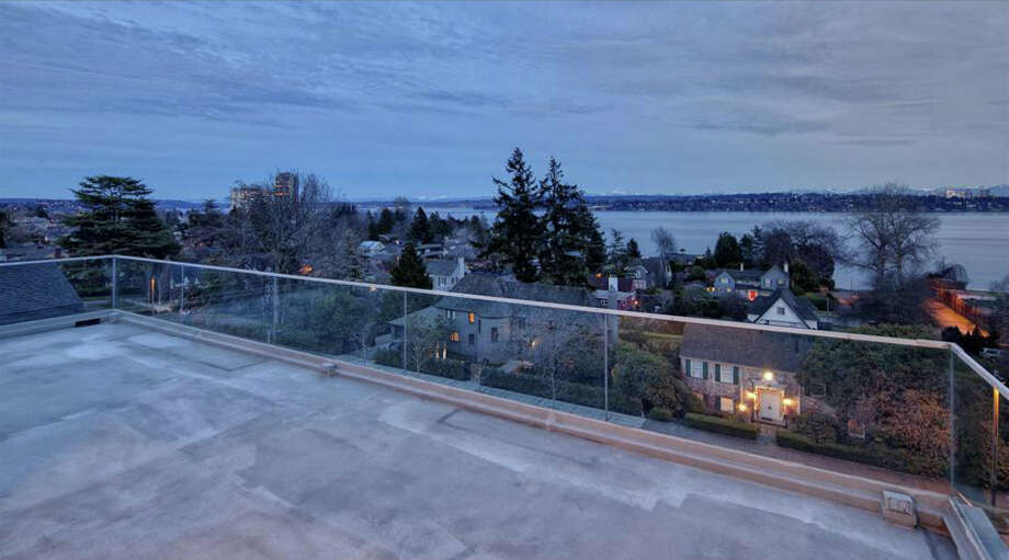 Balcony of 1101 McGilvra Boulevard E. It's listed for $2.85 million. Photo: Matt Edington, Clarity Northwest, Courtesy Chris Sudore, King County Estates, Coldwell Banker Bain
