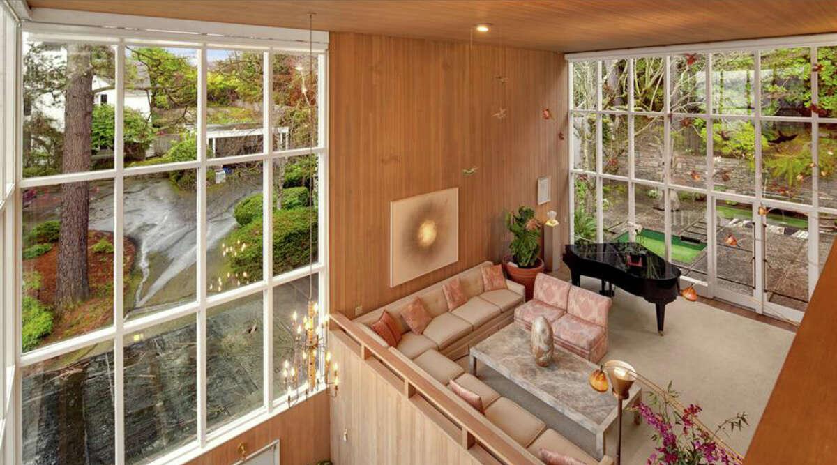 Living room of 1101 McGilvra Boulevard E. It's listed for $2.85 million.