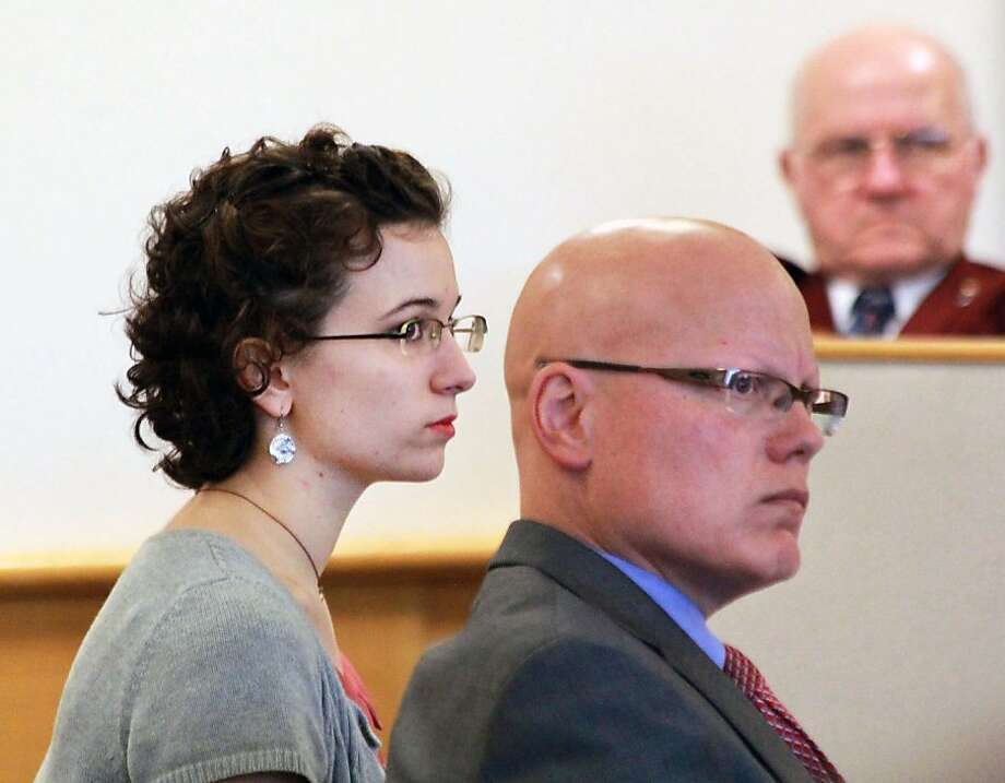 """Kathryn """"Kat"""" McDonough, 19, of Portsmouth, N.H., appears at the Rockingham Superior Courthouse, Thursday, July 25, 2013 in Brentwood, N.H. McDonough, a New Hampshire woman charged with lying to investigators about the disappearance and death of a University of New Hampshire sophomore last fall has been sentenced to 1½ -3 years in prison. (AP Photo/The Herald, Rich Beauchesne) Photo: Rich Beauchesne, Associated Press"""