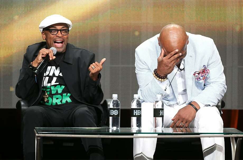 "Director Spike Lee (L) and Mike Tyson speak onstage during the ""Mike Tyson: Undisputed Truthts"" panel discussion at the HBO portion of the 2013 Summer Television Critics Association tour - Day 2 at the Beverly Hilton Hotel on July 25, 2013 in Beverly Hills, California.  (Photo by Frederick M. Brown/Getty Images) Photo: Frederick M. Brown, Getty Images"