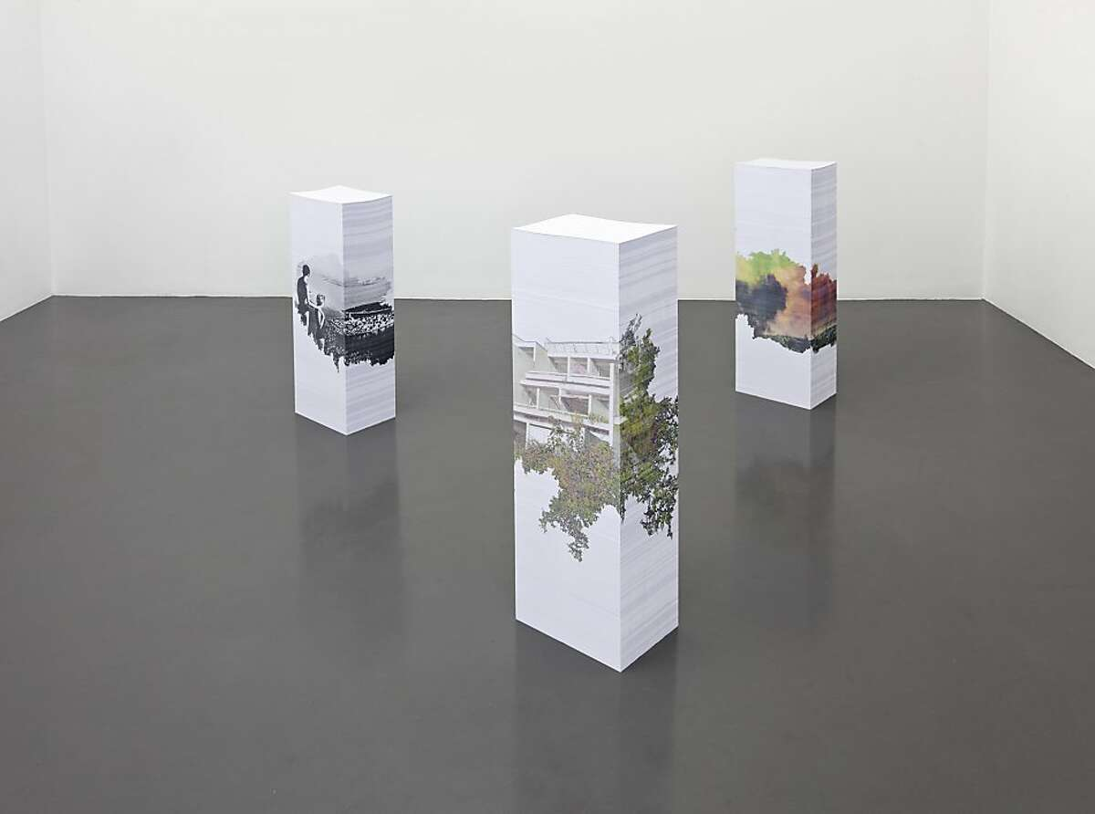 """Untitled (Marina-Lucica)"" (2012) inkjet prints on three stacks of A4 paper by Aleksandra Domanovic"