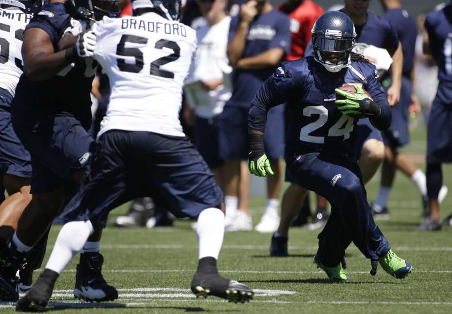 On the importance of varying the tempo of the offense:''Yeah, you have to have the ability to change the pace of the game. It's like playing point guard (in basketball). You want to be able to change the pace of the game, and I think (offensive coordinator) Coach Darrell Bevell does a tremendous job putting us in great situations. He makes tremendous calls; he's always done an unbelievable job at that, so I'm excited. We just take it one day at a time and keep growing.''  Photo: Ted S. Warren, Associated Press