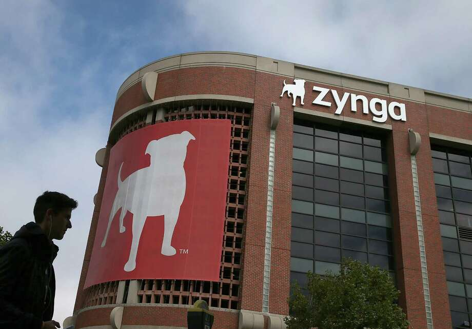 A pedestrian walks by the Zynga headquarters in San Francisco, California. Photo: Justin Sullivan / Getty Images / 2013 Getty Images