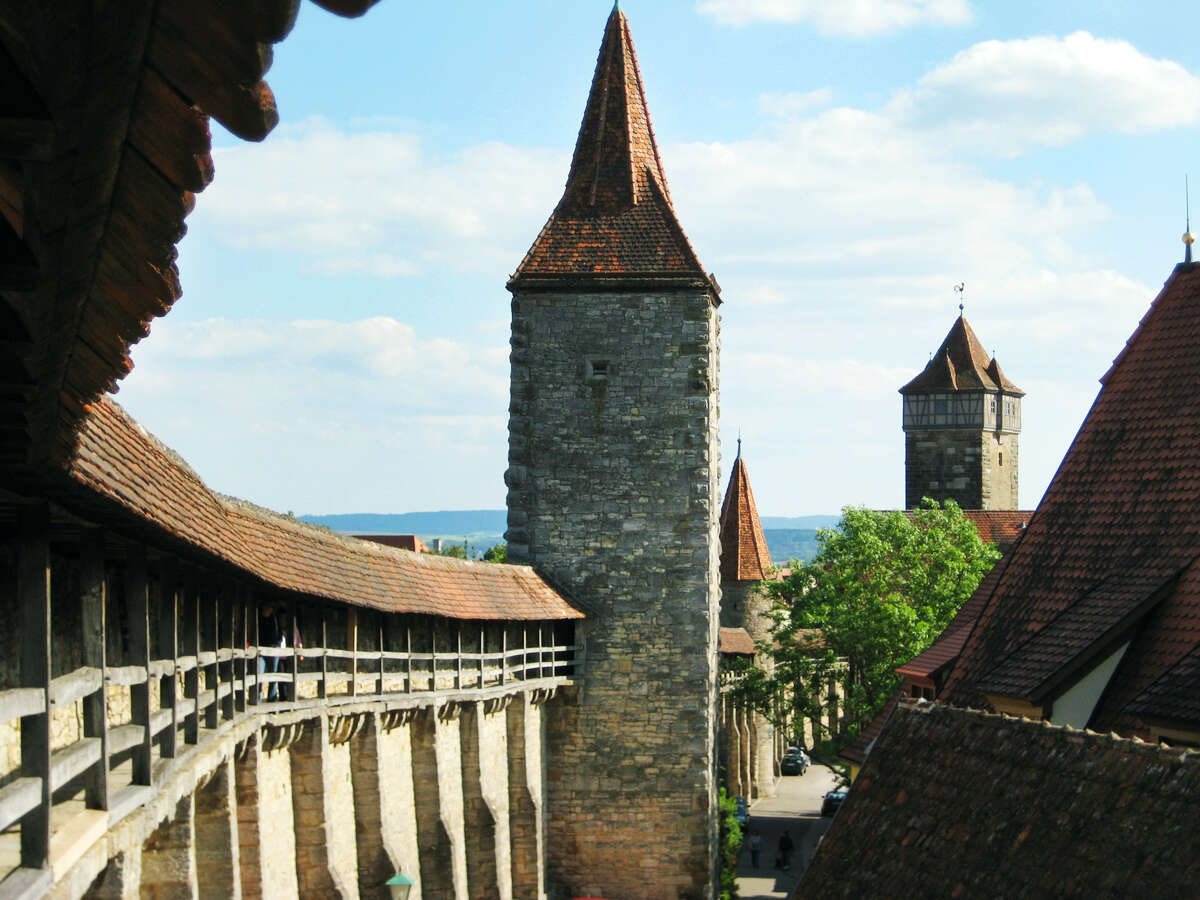 Rothenburg's wall - with its beefy fortifications and intimidating gates - provides great views and a good orientation.
