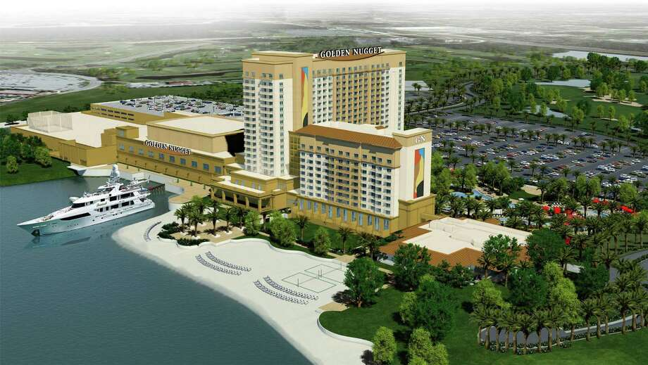 A rendering envisions the Golden Nugget Hotel and Casino in Lake Charles, La. Once construction is completed, the resort is expected to have almost 800 rooms, a spa, boutiques and restaurants such as Vic & Anthony's, Grotto, Cadillac Bar and Saltgrass Steak House. Photo: Landry's