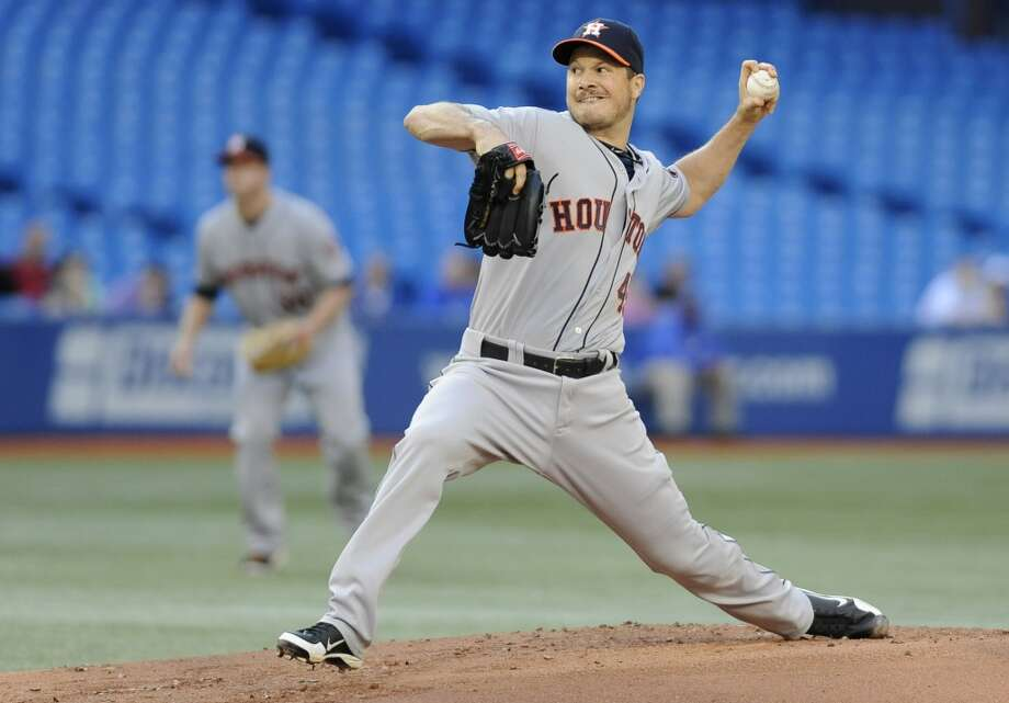 July 25: Blue Jays 4, Astros 0Erik Bedard delivers a pitch in the first inning. Photo: Brad White, Getty Images