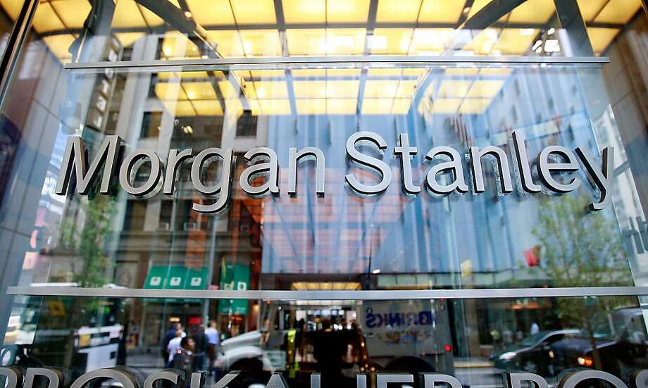 Sales and trading revenue for Morgan Stanley, whose New York headquarters is shown above, is up 44 percent over last year, says Bloomberg Industries. Photo: Mario Tama, Getty Images