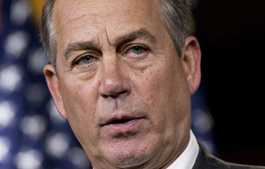 "House Speaker John Boehner told reporters on Capitol Hil that Iowa Rep. Steve King's comments that many immigrants were drug runners were ""deeply offensive and wrong."" Photo: J. Scott Applewhite / Associated Press"