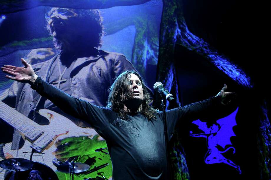 Ozzy Osbourne of Black Sabbath performs on the opening date of their U.S tour at the Cynthia Woods Mitchell Pavillion Thursday July 25, 2013.(Dave Rossman photo) Photo: Dave Rossman, For The Houston Chronicle / © 2013 Dave Rossman