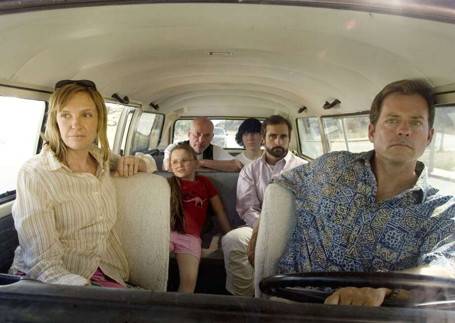 Little Miss Sunshine:The Volkswagen bus may hold a lot of dysfunctional family members, but it's not the most reliable vehicle for a road trip from Albuquerque to Redondo Beach. Photo: Fox Searchlight Pictures, 2006