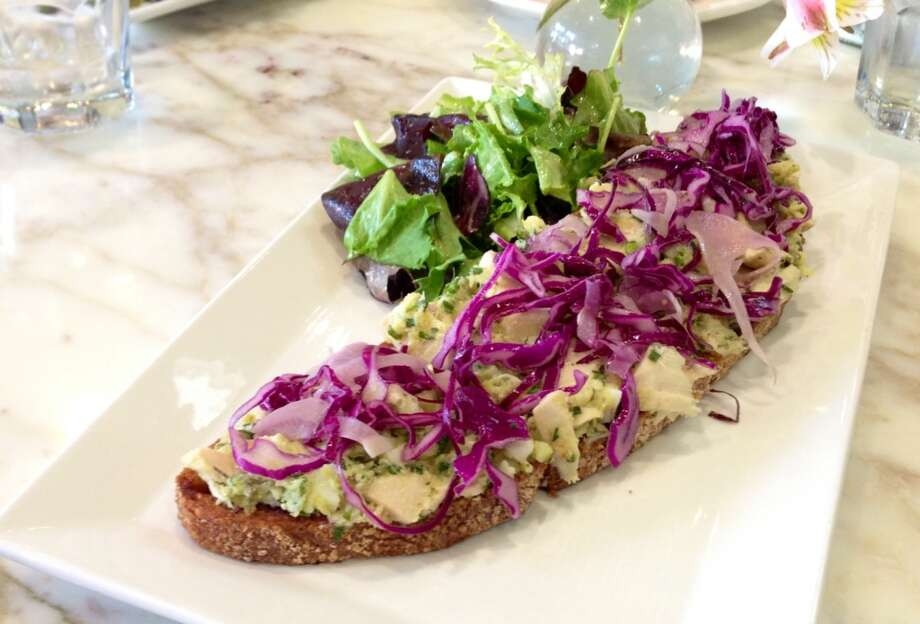 Albacore tuna tartine ($10.50) at B Patisserie