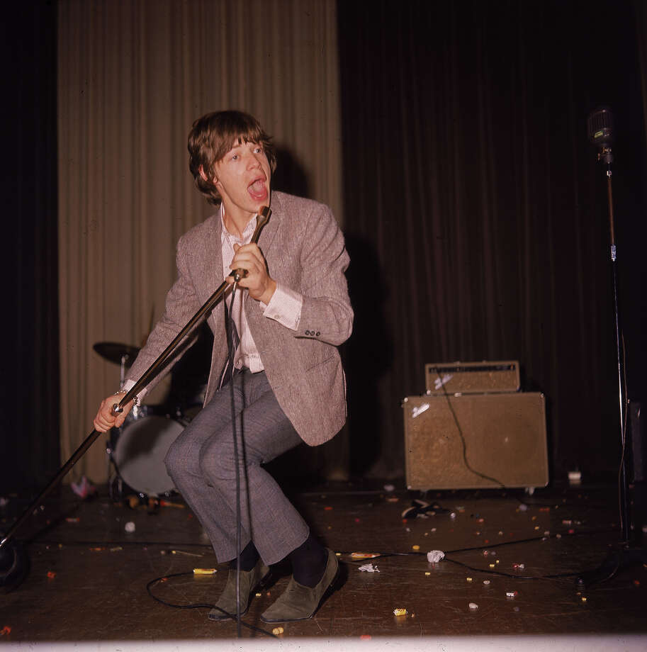 British musician Mick Jagger of the rock band the Rolling Stones, performs in concert, circa 1960s. Photo: Fotos International, Getty Images / 2004 Getty Images
