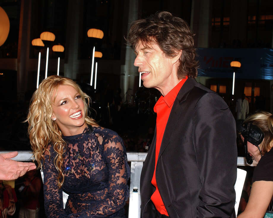 Britney Spears and Mick Jagger, 2001. Photo: KMazur, WireImage / 2001 Wireimage.com