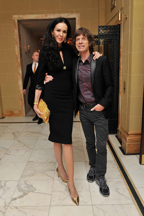 L'Wren Scott and Mick Jagger attend the L'Wren Scott cocktail party during London Fashion Week at  on February 17, 2013. Photo: Nick Harvey, WireImage / 2013 Nick Harvey