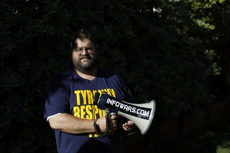 Activist Sean Ackley poses for a portrait in his home in Brentwood, Calif. on July 24, 2013. Ackley is protesting the Bohemian Grove, a gathering place for powerful men. Photo: The Chronicle