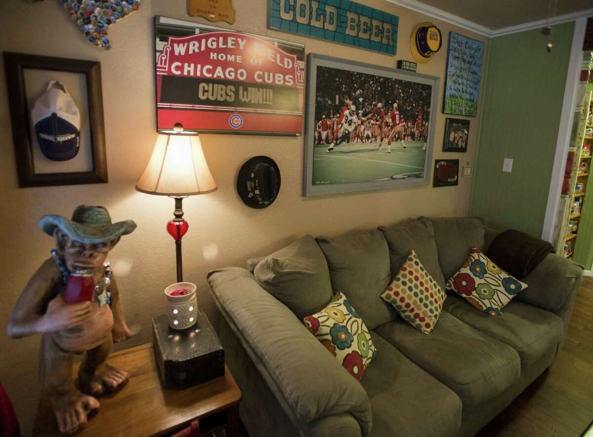 The Collinses often host get-togethers for sporting events and holidays at their New Braunfels home. The reconfigured space accommodates large gatherings.