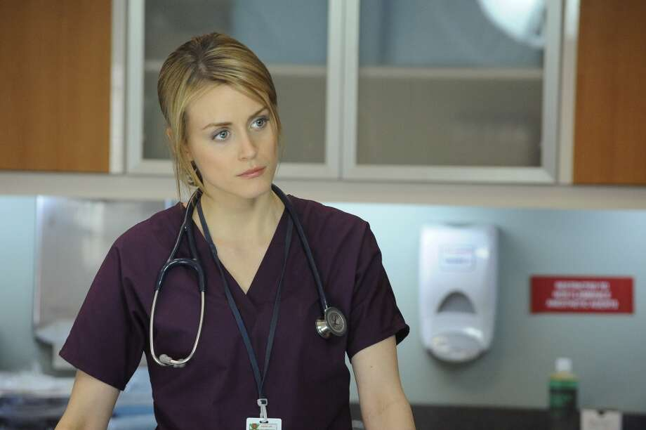 You may also have seen Taylor Schilling in scrubs, when she started in the now-dead medical TV show, ''Mercy.'' Photo: NBC, NBC Via Getty Images