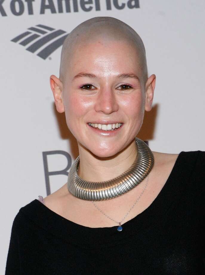 Yael Stone in 2011, after she shaved her head for the movie, ''The Diary of a Madman,'' with Geoffrey Rush. Photo: John Lamparski, WireImage