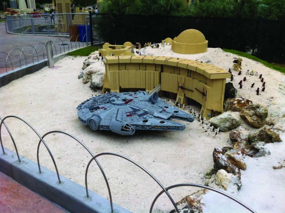 A 'Star Wars' replica was part of Star Wars Week at LEGOLAND in Florida