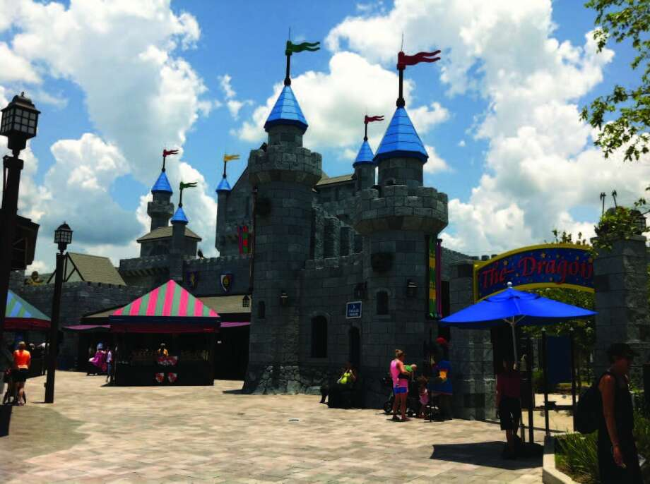 The Dragon roller coaster ride at LEGOLAND is kid friendly, as are the park's other coasters. Photo: Chantay Warren, San Antonio Express-News
