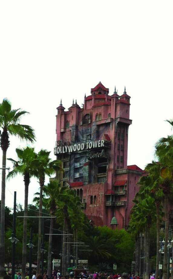 The Hollywood Tower Hotel, which houses the Twilight Zone Tower of Terror ride, looms over Hollywood Studios. Photo: Chantay Warren, San Antonio Express-News