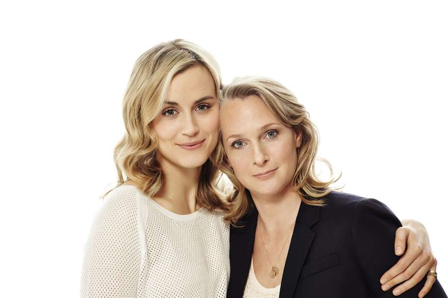 Taylor Schilling, left, and Piper Kerman, author of the memoir ''Orange is the New Black'' and inspiration for Netflix' new series. Photo: Netflix