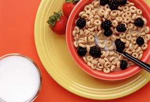 Fortified milk is a good source of vitamin D, and fortified cereals are a good source of vitamin B12.