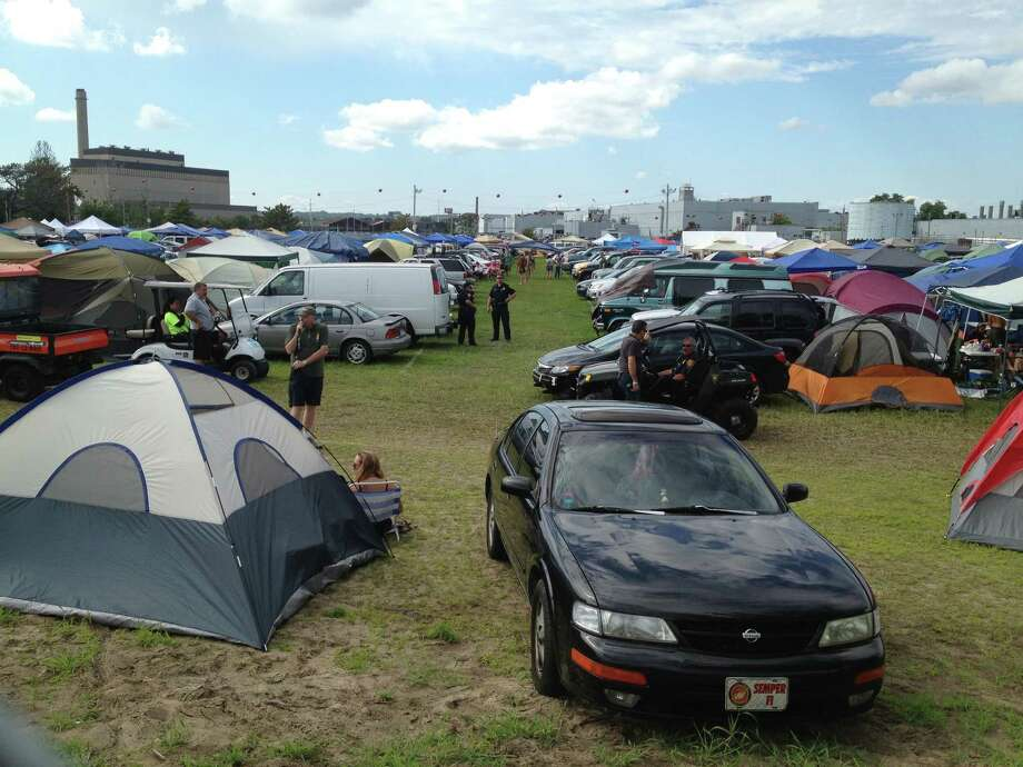 City police are investigating the death of an attendee at the Gathering of the Vibes music festival at Seaside Park. Photo: Denis O'Malley / Connecticut Post