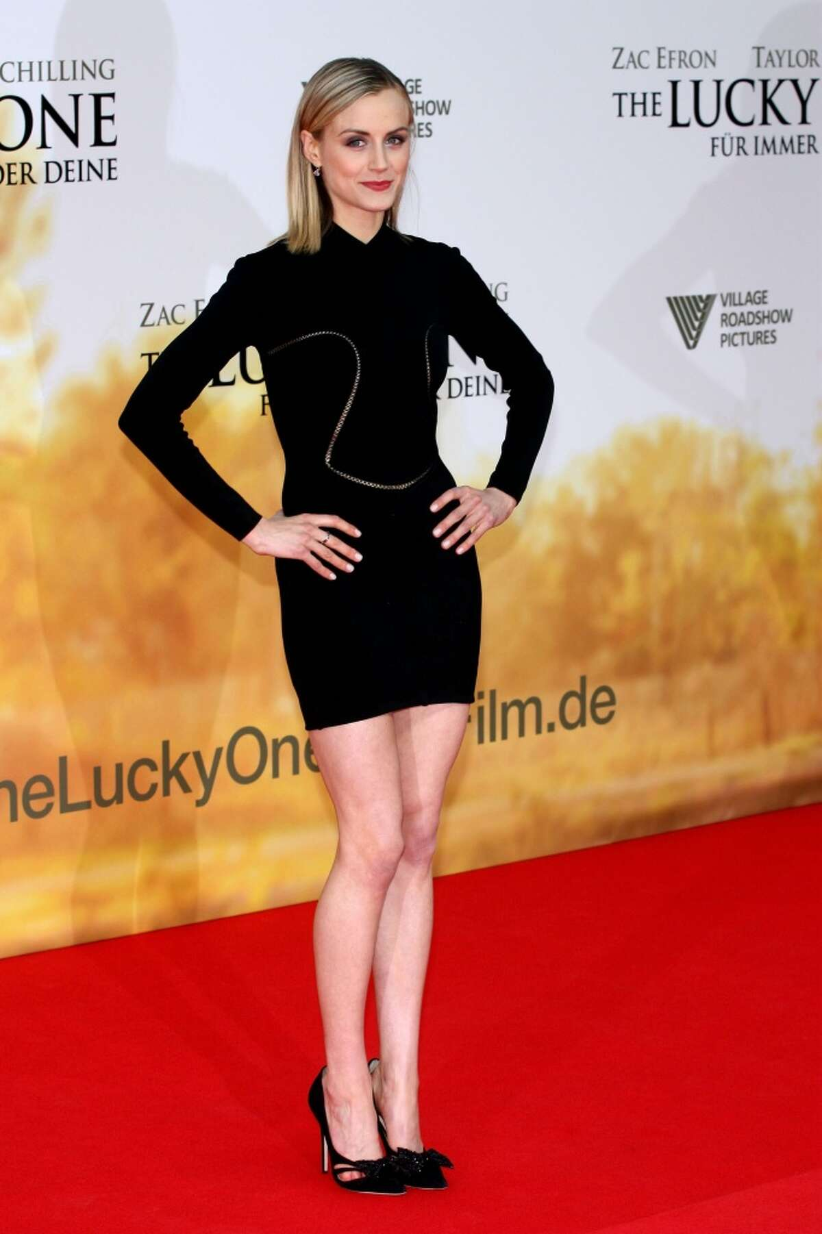 Where do you know Taylor Schilling from? She was in the 2012 movie ''The Lucky One,'' for which she's pictured at a premiere.
