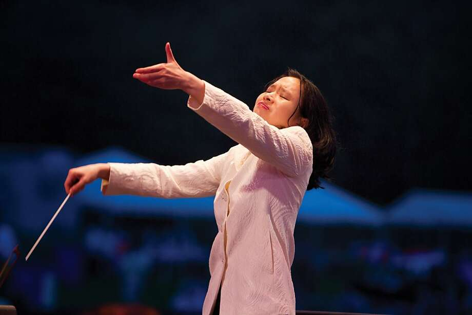 Carolyn Kuan first worked at the Cabrillo Festival in 2003, then became Marin Alsop's assistant and finally associate conductor. Photo: Steven Laschever