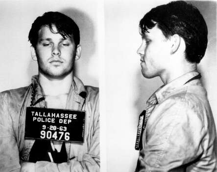 Jim Morrison's 1963 booking photo from Tallahassee. Florida. Photo: Michael Ochs Archives / Michael Ochs Archives