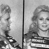 Actress and misdemeanant Zsa Zsa Gabor poses for a mug shot after being arrested for slapping a police officer on June 14, 1989 in Beverly Hills, California.