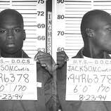 50 Cent (Curtis Jackson) has his mug shot taken while serving time in a New York State Department of Correctional Services shock incarceration program on August 23 1994 in New York City.