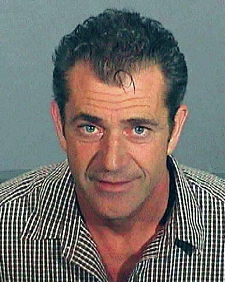In this Los Angeles County Sheriff's Department booking photo, actor Mel Gibson has his police mug shot taken July 28, 2006 in Los Angeles, California. Gibson was arrested July 28, 2006 for drunk driving after he was caught speeding and had a blood alcohol reading of 0.12 percent according to authorities. Photo: Handout, Getty Images / 2006 Los Angeles County Sheriff's Department