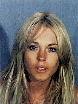 In this handout photo provided by the Santa Monica Police Department,  Lindsay Lohan appears in a booking photo on July 24, 2007 in Santa Monica, California. Lohan, 21, was charged with drunken driving and cocaine possession and released on $25,000 dollars bail. Photo: Handout, Getty Images / 2007 Santa Monica Police Department