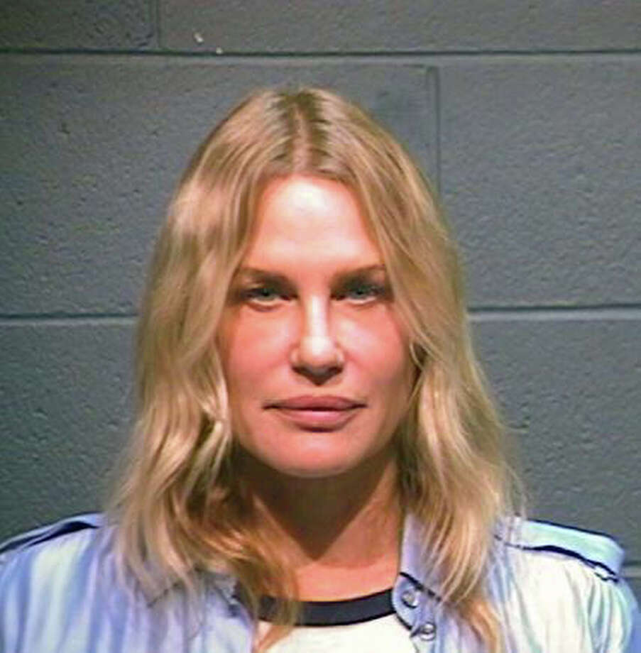 In this handout photo provided by the Wood County Sheriff's Department, actress Daryl Hannah is seen in a police booking photo October 4, 2012 in Quitman, Texas.  Hannah was arrested while protesting the Keystone XL oil pipeline October 4, 2012 in Winnsboro, Texas.  She was reportedly charged with criminal trespassing and resisting arrest.  Hannah was released on bond. Photo: Handout, Getty Images / 2012 Wood County Sheriff's Department