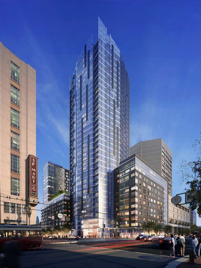 Located at the corner of 10th and Market Streets, NeMa will have four linked towers ranging from 10 to 37 stories with facades of glass and metal. Photo: Liz Hafalia, Handel Architects LLP