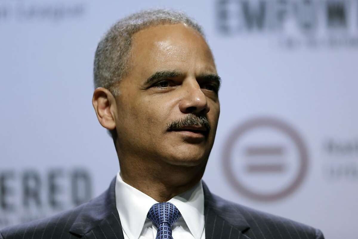 Attorney General Eric Holder speaks at the National Urban League annual conference, Thursday, July 25, 2013, in Philadelphia. Holder announced Thursday the Justice Department is opening a new front in the battle for voting rights in response to a Supreme Court ruling that dealt a major setback to voter protections. Holder said the Justice Department is asking a federal court in San Antonio to require the state of Texas to obtain approval in advance before putting future voting changes in place. (AP Photo/Matt Rourke)