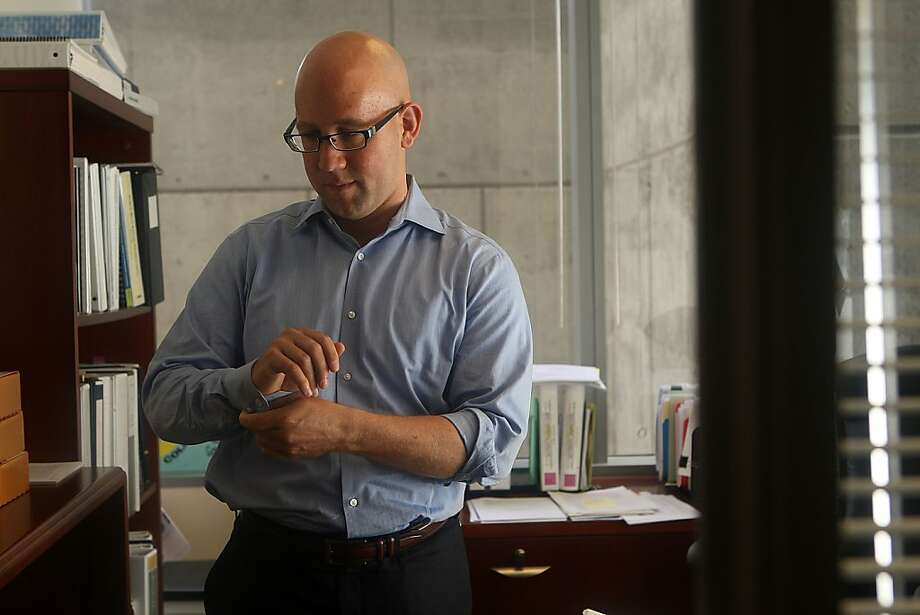 City College Trustee Rafael Mandelman started out espousing cooperation with the accreditors. Then they made him mad. Photo: Liz Hafalia, The Chronicle