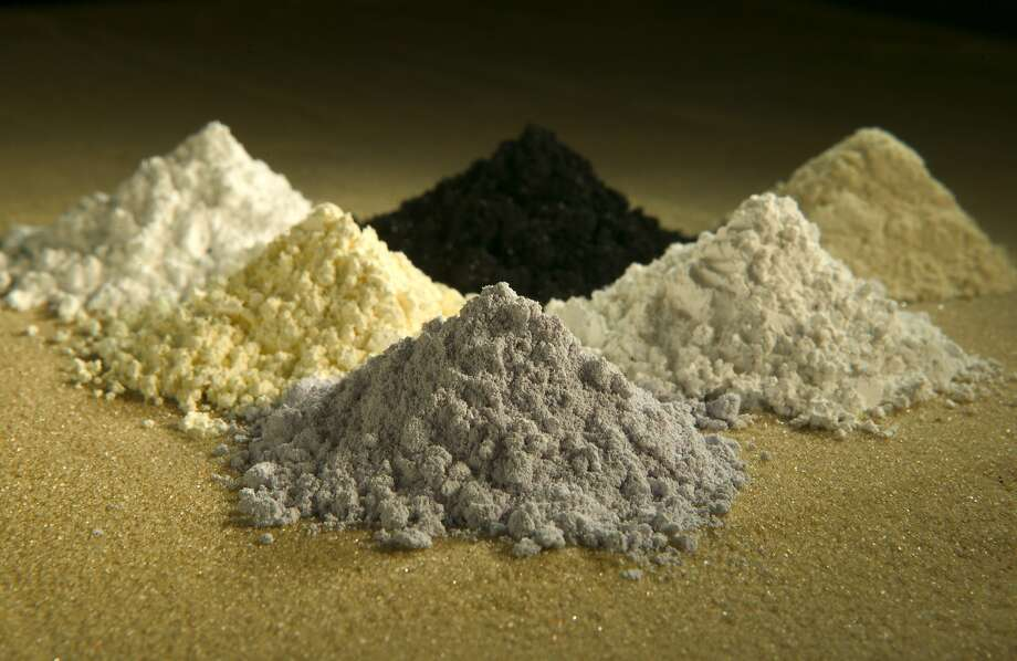 Rare earth oxides of praseodymium, cerium, lanthanum, neodymium, samarium and gadolinium. There is one active U.S. mine and three in development. Trace REEs have been found in 113 U.S. mines. Photo: Peggy Greb, Associated Press