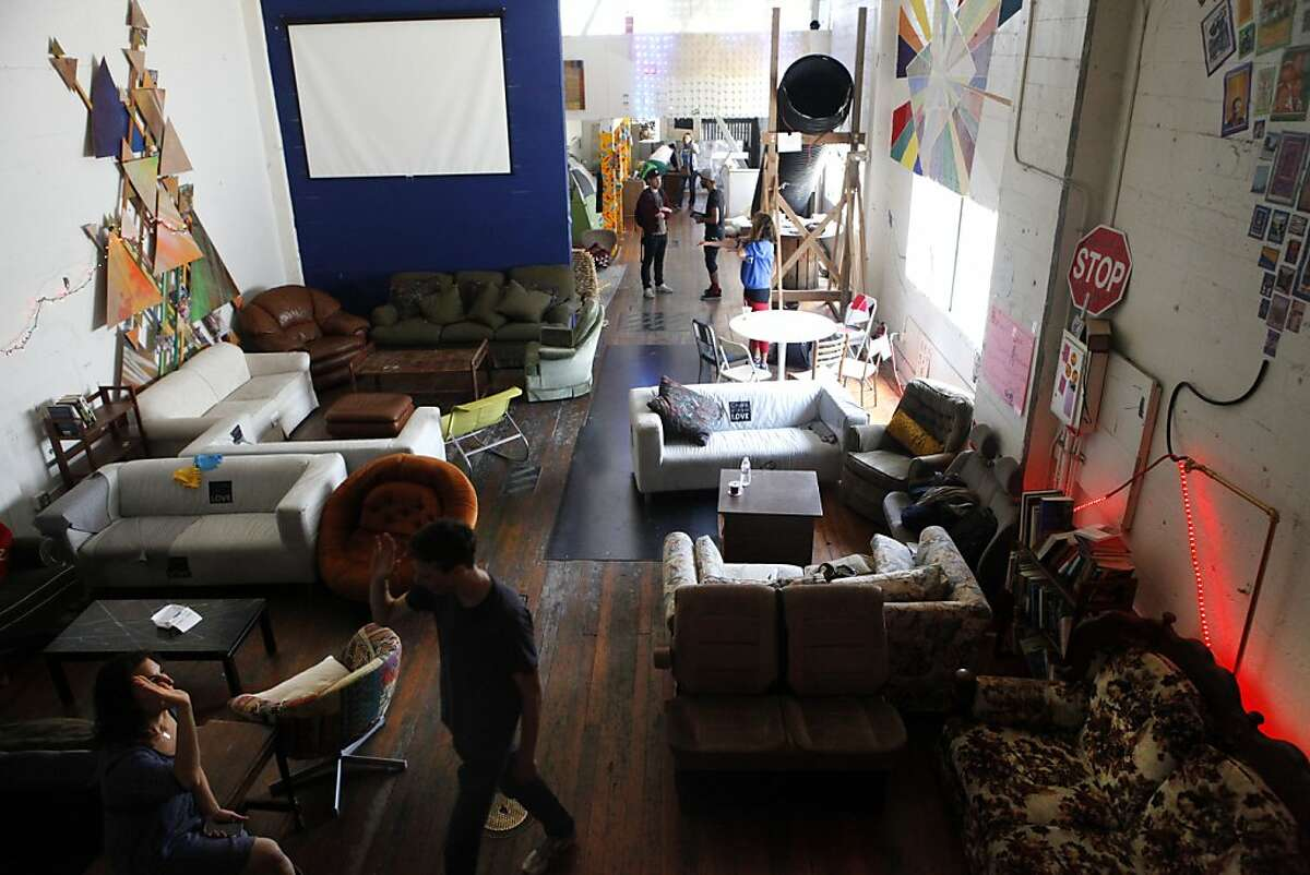 People enjoy Freespace at 1131 Mission Street on its last full day open in San Francisco, Calif. on July, 26, 2013. Freespace has been open and free to the public for two months now and will be closing its doors this Saturday but plans to open in a more permanent location soon are in the works.