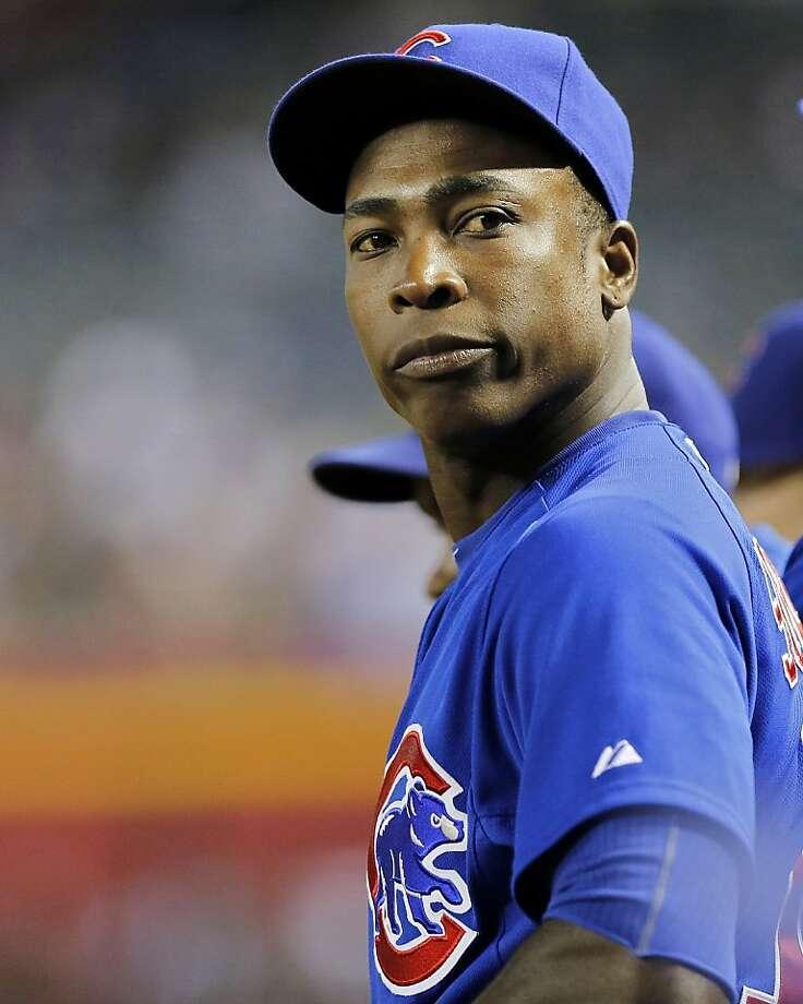 Alfonso Soriano, 37, returns to New York with 389 career homers. Photo: Matt York, Associated Press