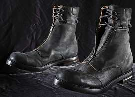A pair of SF's Beneduci boots, seen on Friday, July 26, 2013 in San Francisco, Calif., features a front zipper.