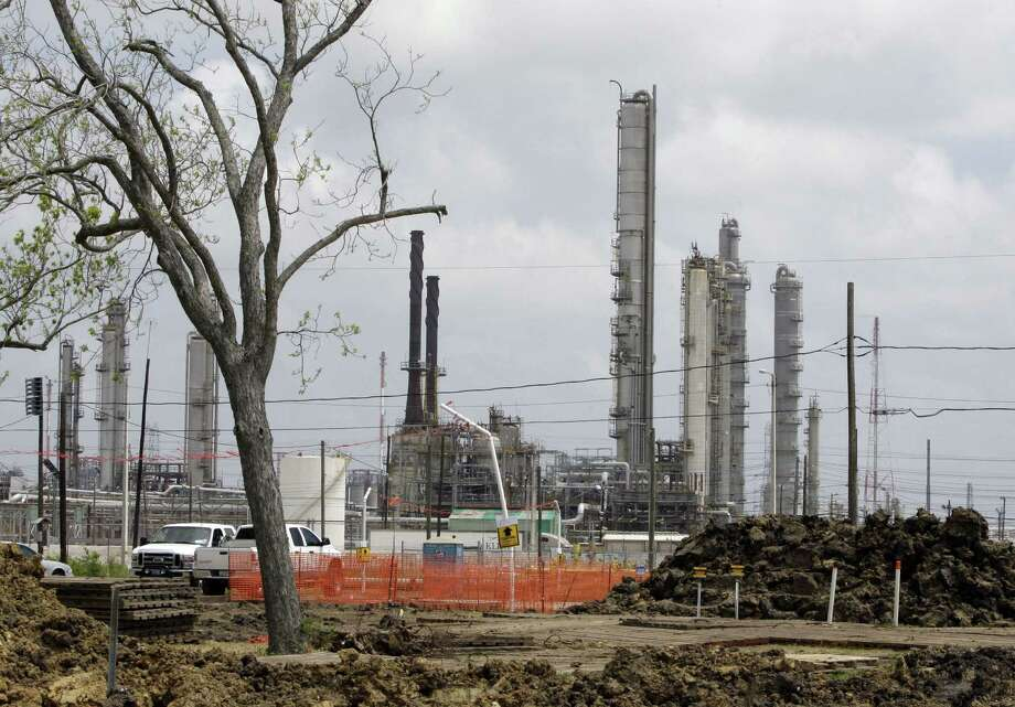 Construction of an Exxon Mobil chemical plant in Baytown is shown in 2010, the year the Environmental Protection Agency intervened in Texas' permitting process. Photo: Associated Press