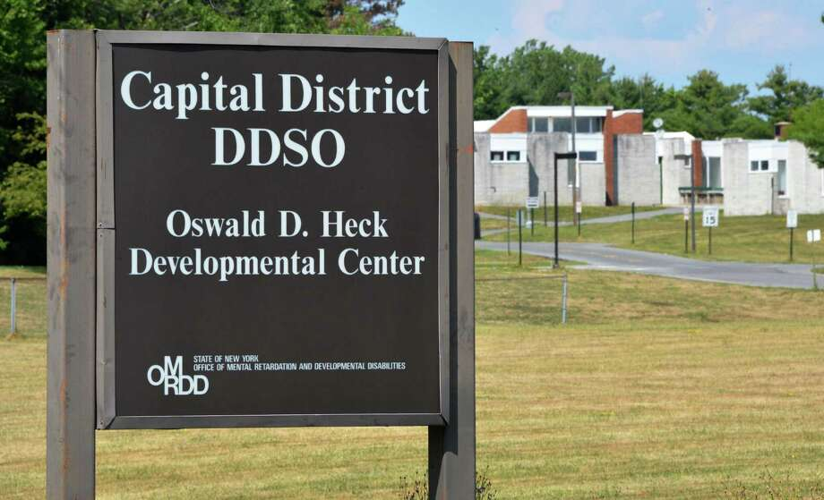Entrance to Capital District DDSO's O.D Heck Center on Balltown Road in Niskayuna Tuesday July 24, 2012.   (John Carl D'Annibale / Times Union) Photo: John Carl D'Annibale / 00018583A