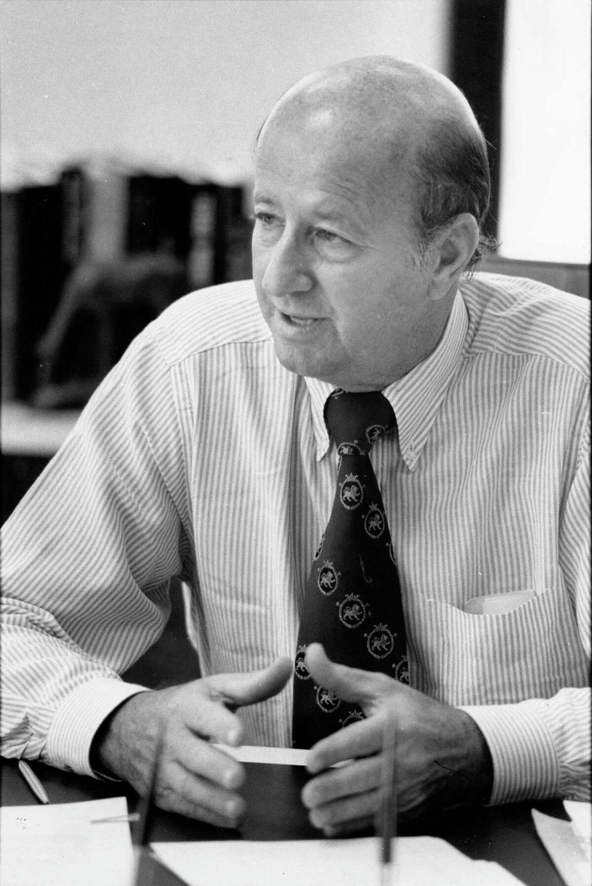 11/1979 - Independent oilman and real estate developer George P. Mitchell in his office